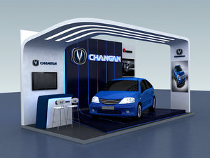 3D exhibition stand changal