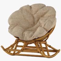 3D papasan model