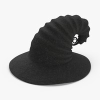 3D model witch-hat-03