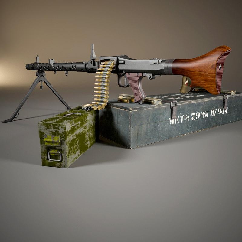 mg 34 machine gun 3D