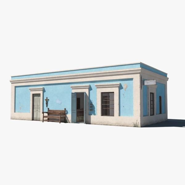 mexican store building interior 3D model