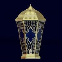 3D model lantern designed