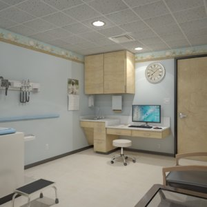 diagnosis pediatric exam room 3D model