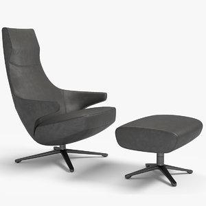 armchair jay lounge frau 3D model