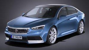 3D model generic sedan