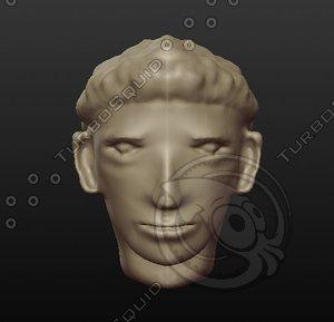 soccer player head 3D
