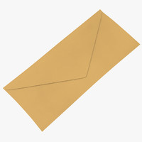 closed mail envelope 02 3D model