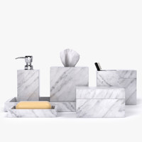 3D model restoration hardware carrara marble
