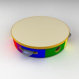 tambourine children 3D model