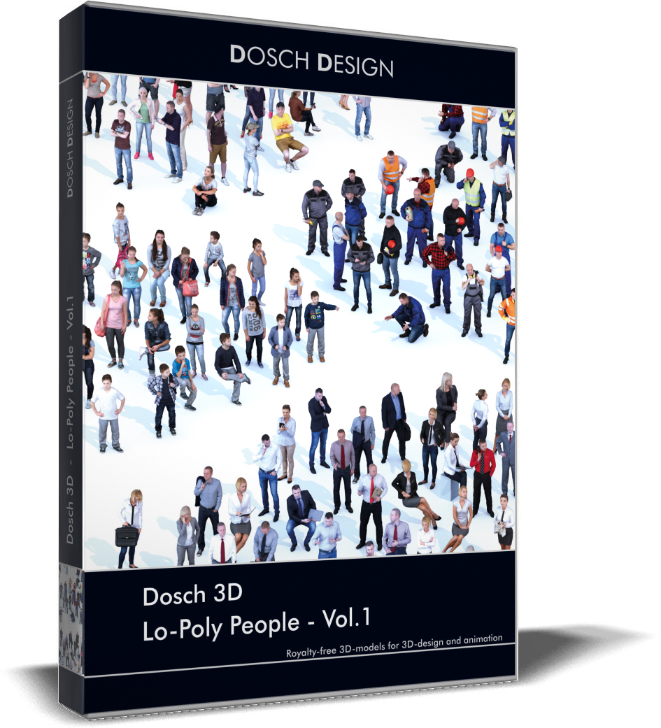 3D lo-poly people vol 1 model