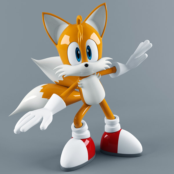 3D miles tails prower model