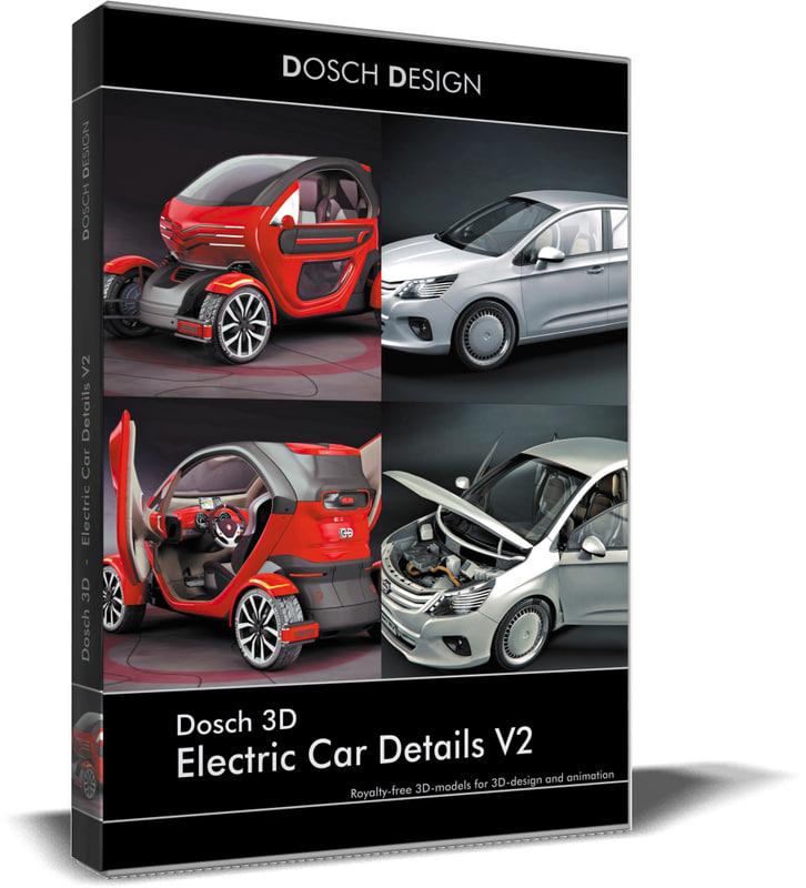 electric car details 3D model