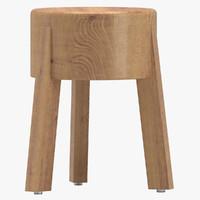 roger sika stool 3D model