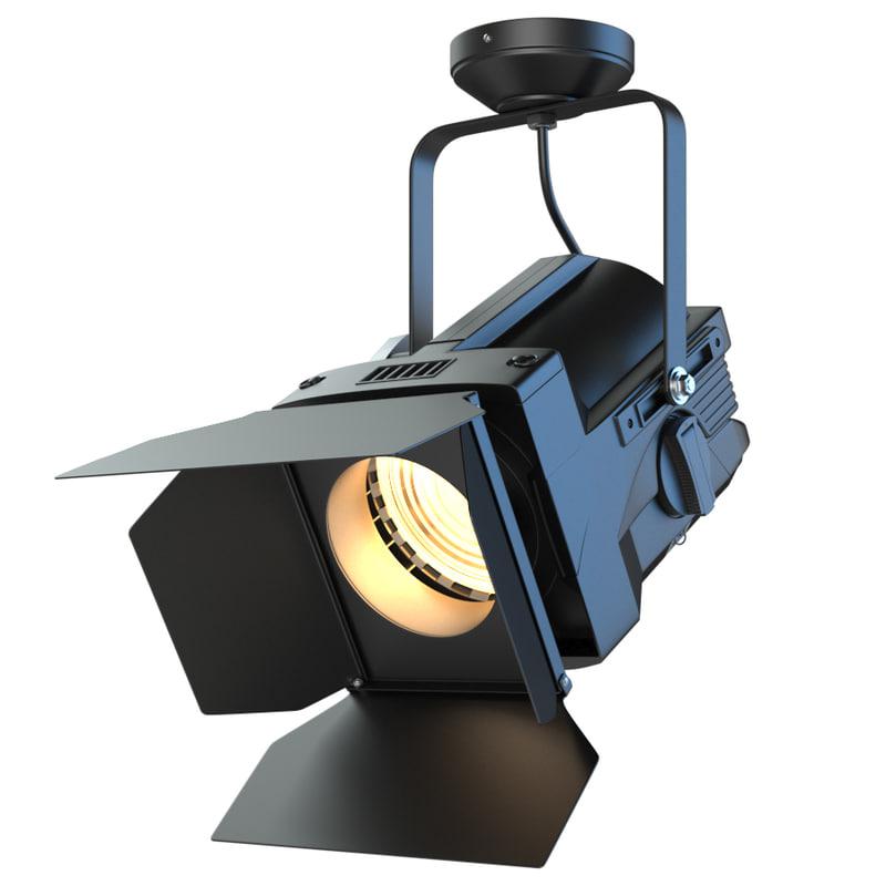 3D spotlight fresnel