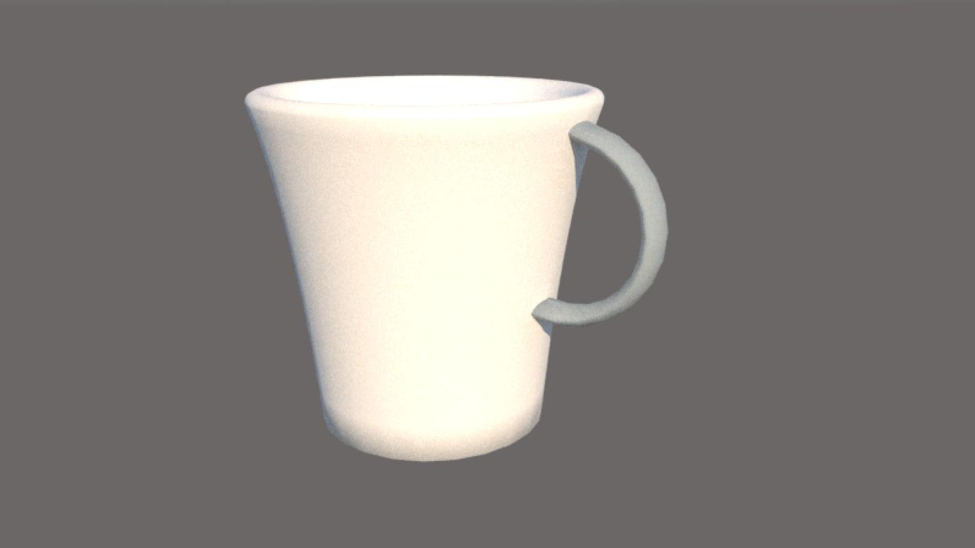 3D latte cup model