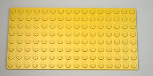 3D model lego base plate 8x16