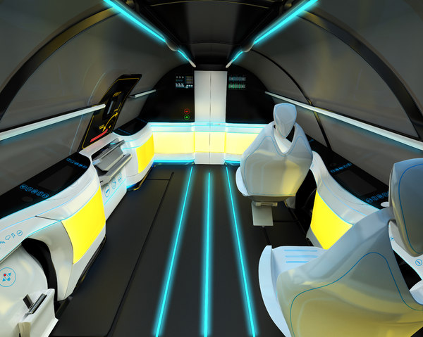 3D model interior airplane supersonic business