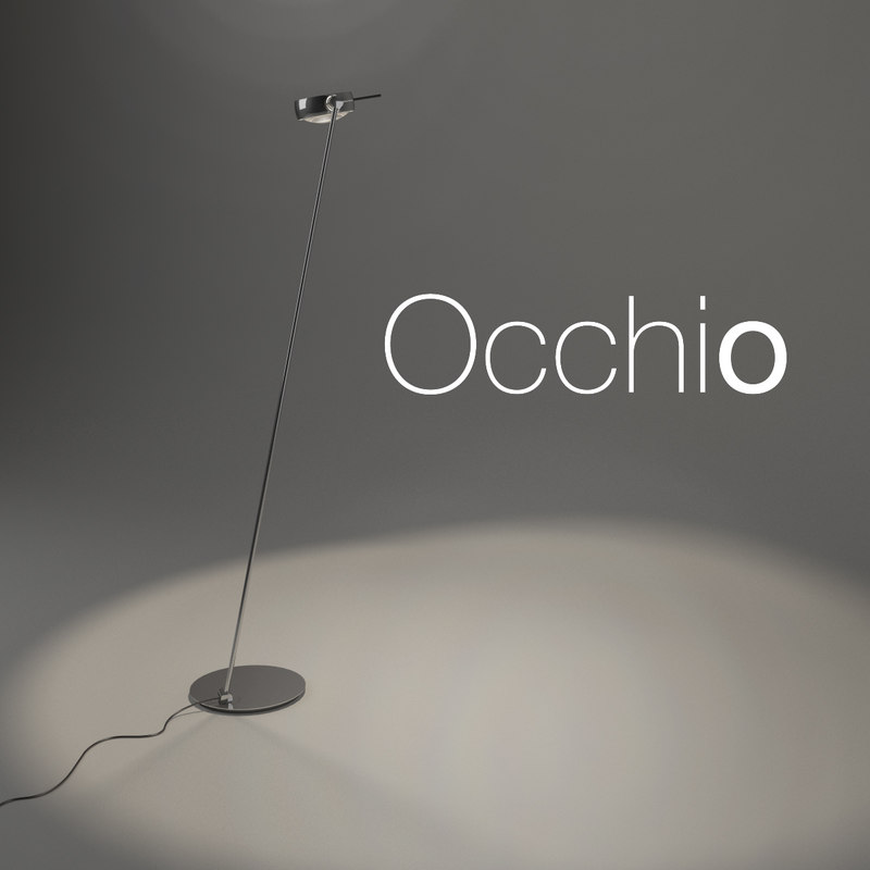 3D model floor lamp occhio sento