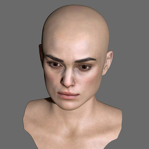 3D model keira knightley head female