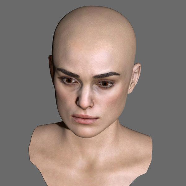 3D model keira knightley head female