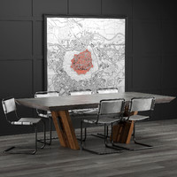 3D dining room cocorepublic model