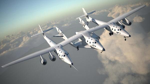 3D virgin galactic shuttle model
