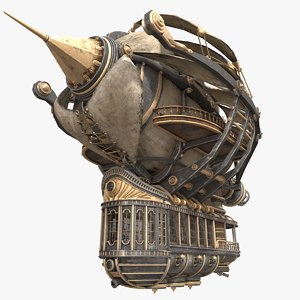 3D model airship steampunk