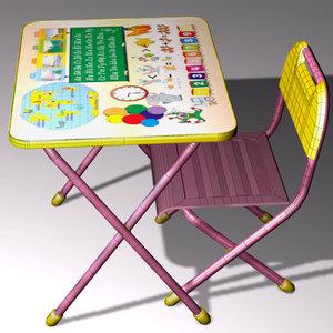 3D children s table model