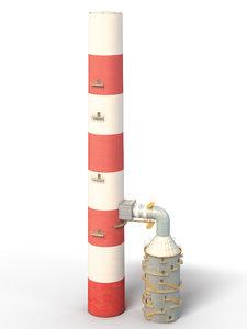 3D chimney model