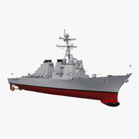 arleigh burke destroyer decatur 3D