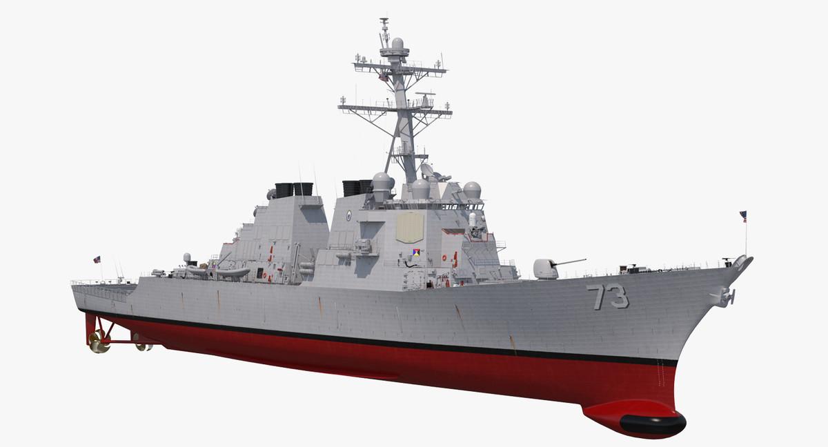 arleigh burke destroyer decatur 3D