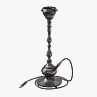 hookah pipe 01 3D model
