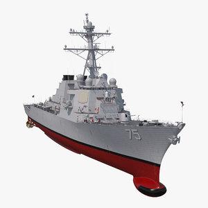 3D arleigh burke destroyer donald model