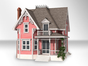queen victorian style house model