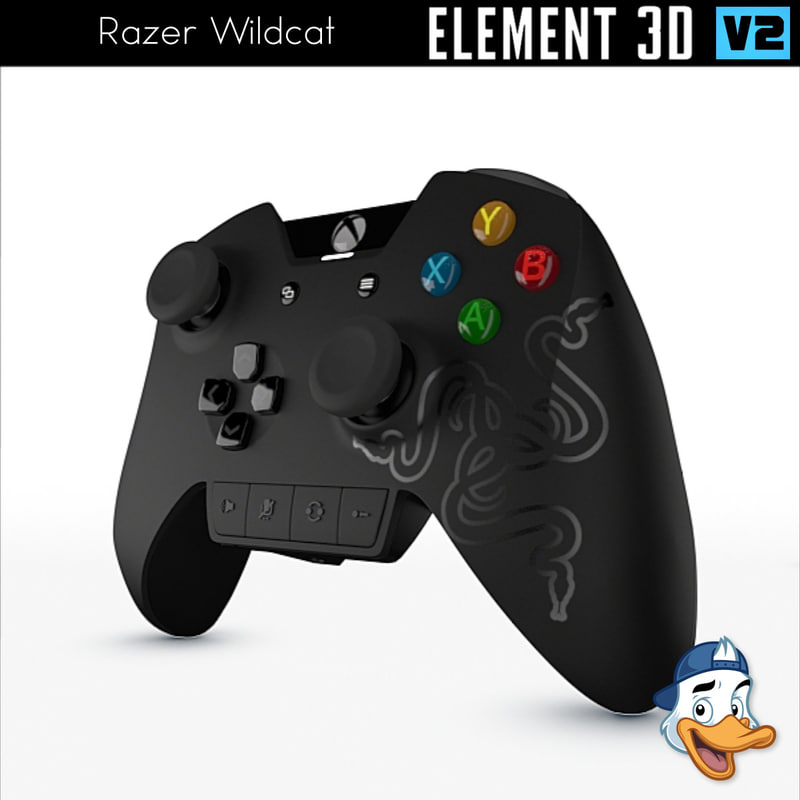 3D model razer wildcat element