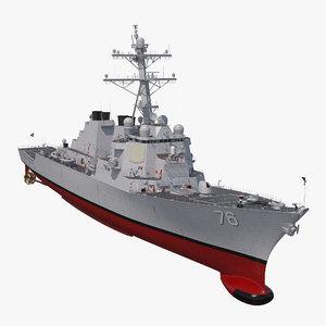 arleigh burke destroyer higgins 3D model