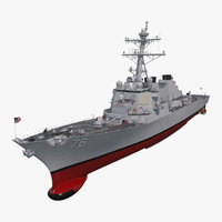 arleigh burke destroyer higgins 3D