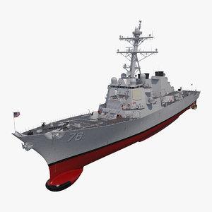 arleigh burke destroyer higgins 3D