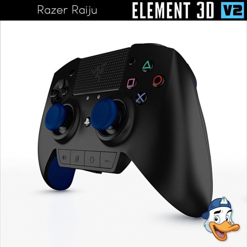 razer raiju element 3D model