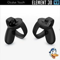 3D oculus touch element model