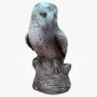 concrete owl 3D model