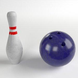bowling ball pin 3D
