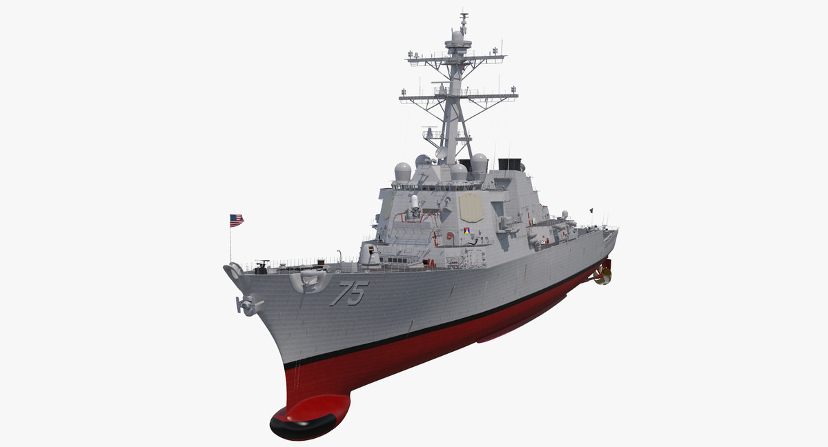 arleigh burke destroyer donald model
