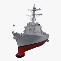 3D arleigh burke destroyer mahan