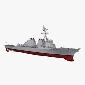 3D model arleigh burke destroyer mcfaul