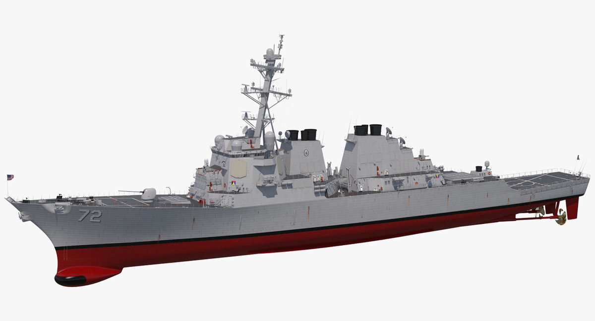 arleigh burke destroyer mahan 3D model