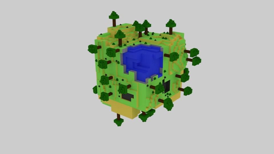 3D world cube model