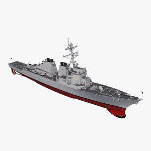 arleigh burke destroyer mcfaul 3D model