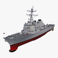 arleigh burke destroyer porter 3D