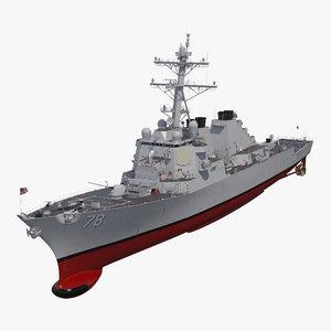 arleigh burke destroyer porter 3D